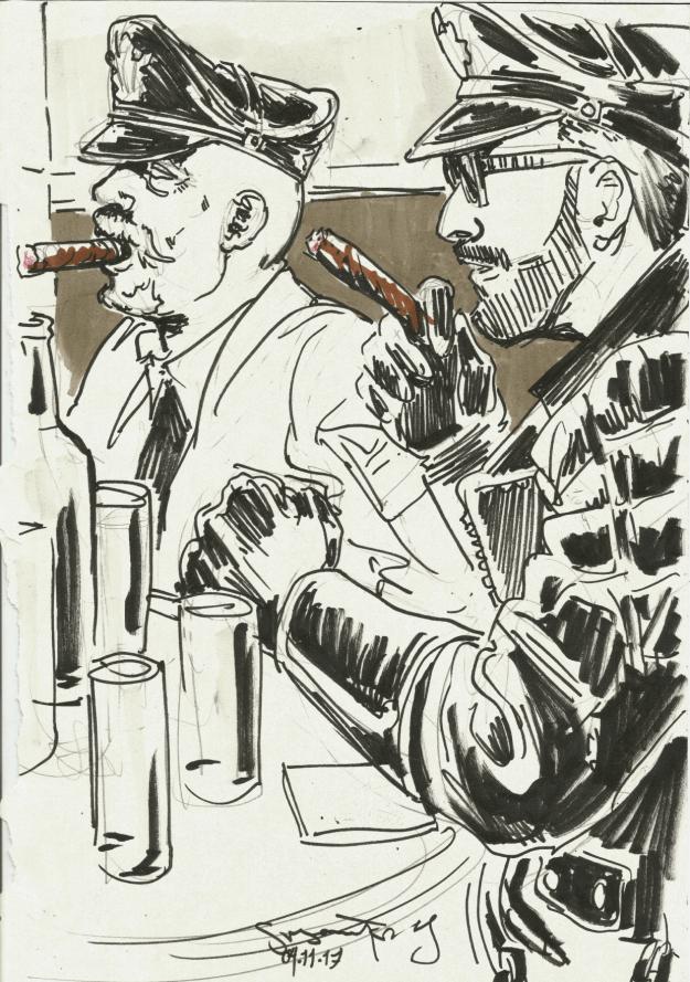 Berlin Cigar Men smokers by Suzanne Forbes Nov 4 2017