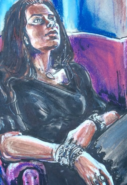 Portrait of Anna May 3 2018 by Suzanne Forbes detail