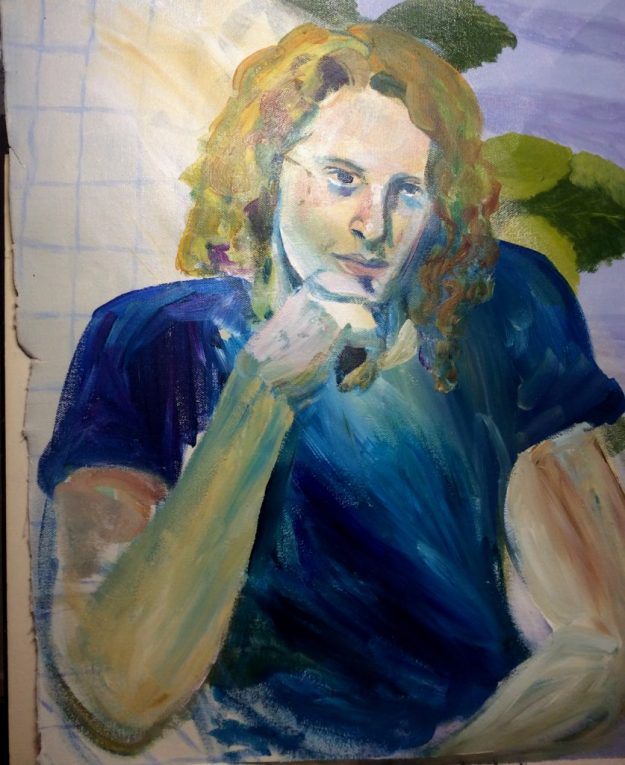 Portrait painting of Brad Geiken prob Fall 1990 by Rachel Ketchum aka Suzanne Forbes edit