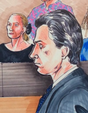 St Paul Russian gangster trial courtroom drawing by Rachel Ketchum aka Suzanne Forbes ca 1992 detail