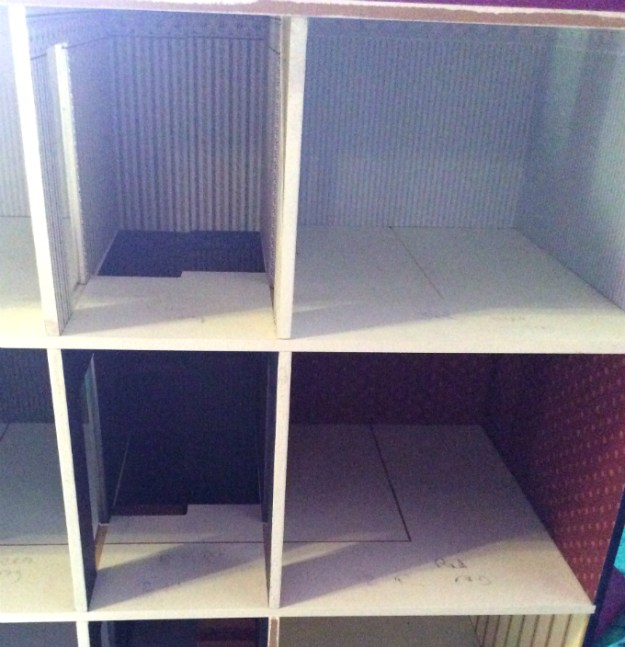 X Men dollhouse WIP by Suzanne Forbes Oct 2018 interior