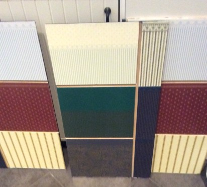 X Men dollhouse WIP by Suzanne Forbes Oct 2018 wallpapered wall panels before assembly