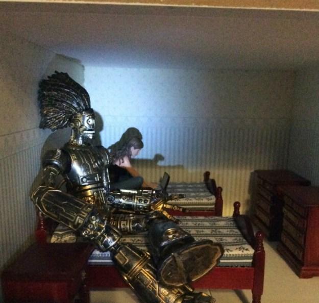 X Men Dollhouse by Suzanne Forbes Nov 28 2018 work in progress bedroom