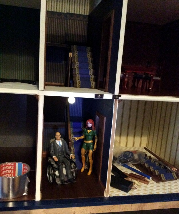 X Men Dollhouse by Suzanne Forbes Nov 28 2018 work in progress foyer