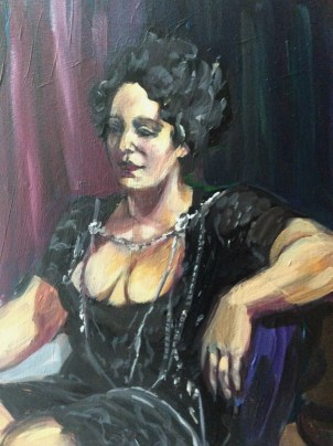 Portrait of Shakrah after third sitting detail by Suzanne Forbes April 29 2019 2