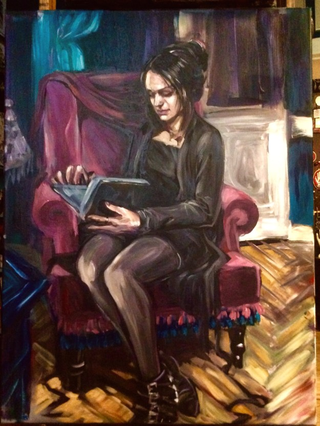Work in progress portrait of Daria second sitting April 9 2019 by Suzanne Forbes