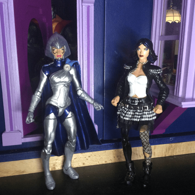 Lilandra and Lila Cheney action figure customs by Suzanne Forbes Sept 21 2019
