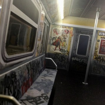 Extreme Sets NYC subway car customized by Suzanne Forbes Feb 2020 Virginia Slims ad