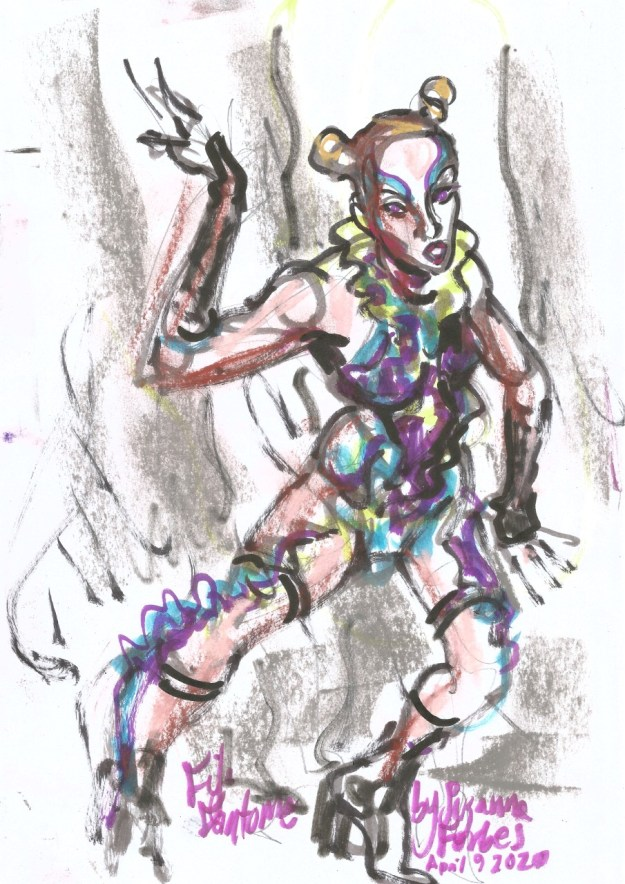 Fifi Fantome for Full Moon Cabaret Egg Moon April 9 2020 by Suzanne Forbes