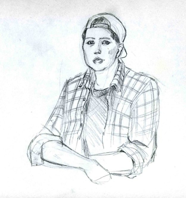 Sketchbook 1992 liz by Rachel Ketchum aka Suzanne Forbes