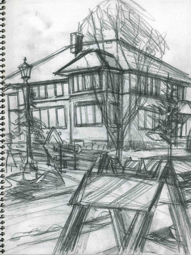 Sketchbook Fall 1990 St. Paul by Rachel Ketchum aka Suzanne Forbes