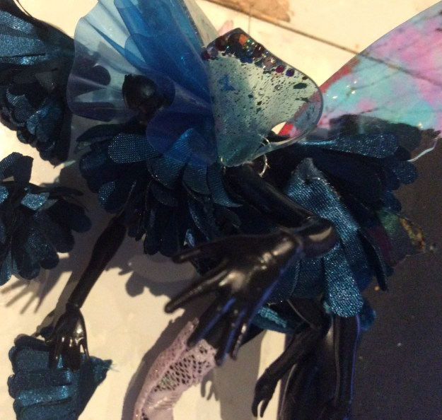 Wasp Doll WIP wings and wires by Suzanne Forbes May 2020