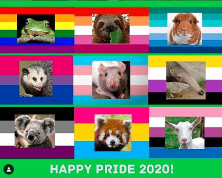 Happy Pride Art by Victoria Aronoff June 2020