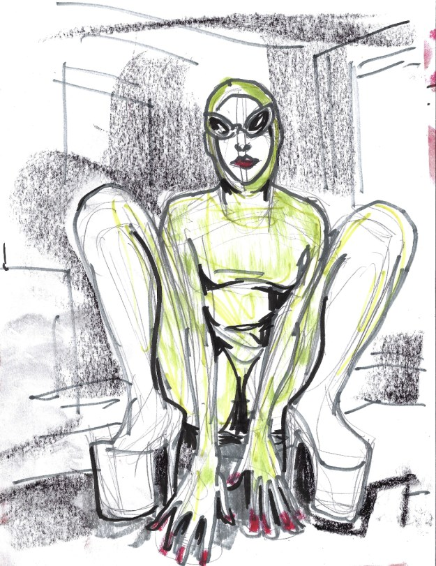 Jacq the Stripper Alien 2 for East London Strippers Collective by Suzanne Forbes Aug 31 2020