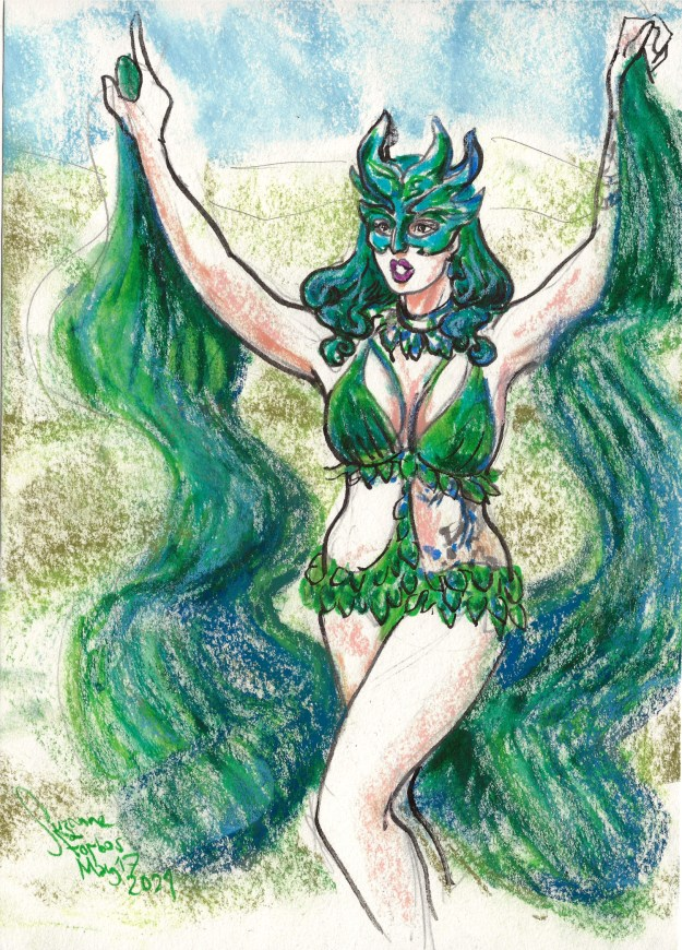 Lady Wildflower for Croatian Burlesque Festival Halloween Edition by Suzanne Forbes May 17 2021