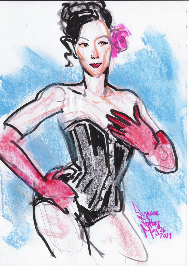 Suki in corset for Berlin Strippers Collective by Suzanne Forbes May 26 2021
