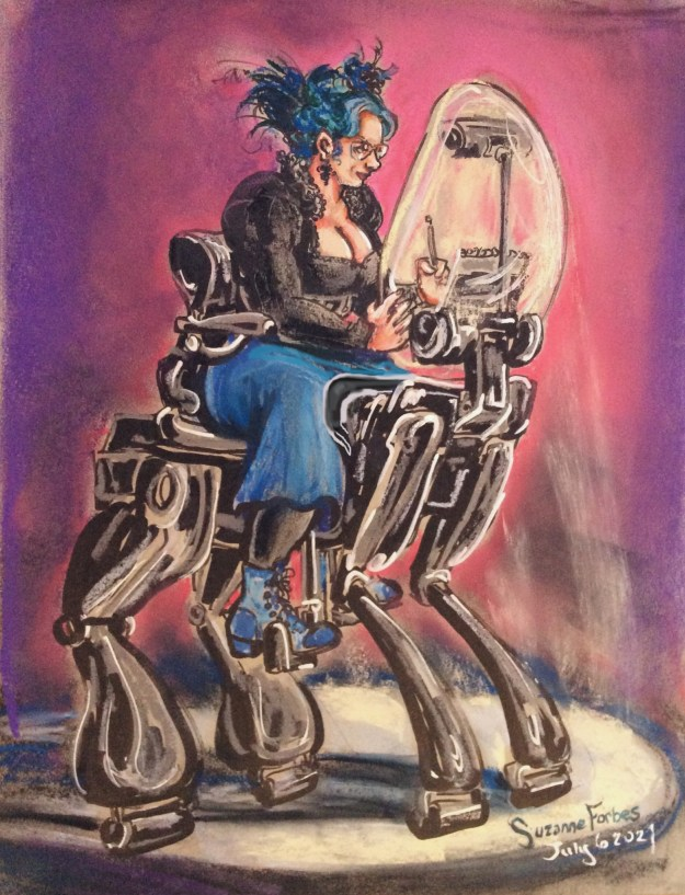 My Fantasy Wheelchair Version 2 by Suzanne Forbes July 6 2021