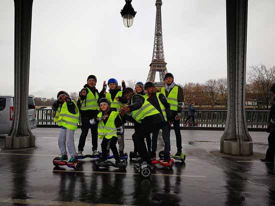 Initiation et Balade en Hoverboard dans Paris pour un EVJF