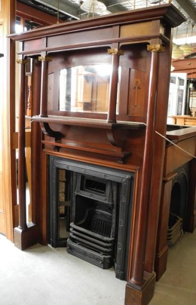 original secondhand restored timber fire surround