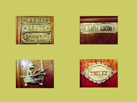 Assorted Brass Signs