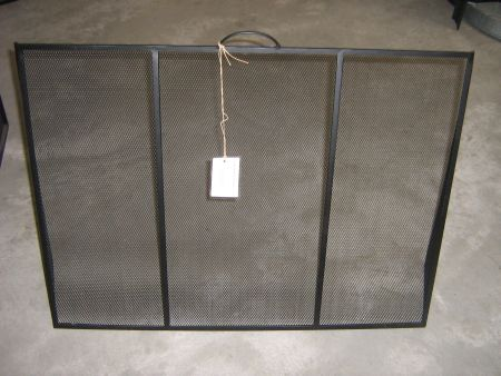 Black Sloping Firescreen