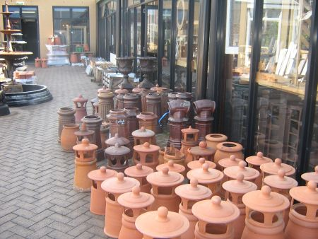 chimney terracotta pots hooded salt glazed original new