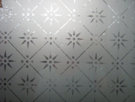Etched Glass Pattern No 4