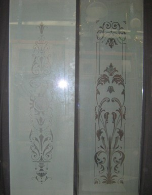 Etched Panels Salisbury and Flowery
