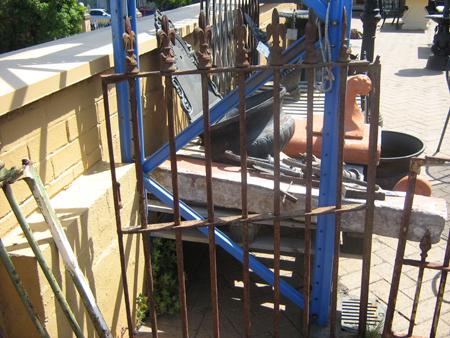 original secondhand victorian spear head front gate
