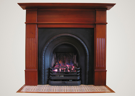 Wonderfire Coal Gas Fire Package in Vict Big Back Grate