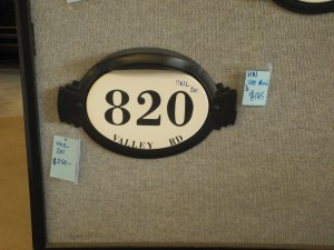 house numbers large ceramic