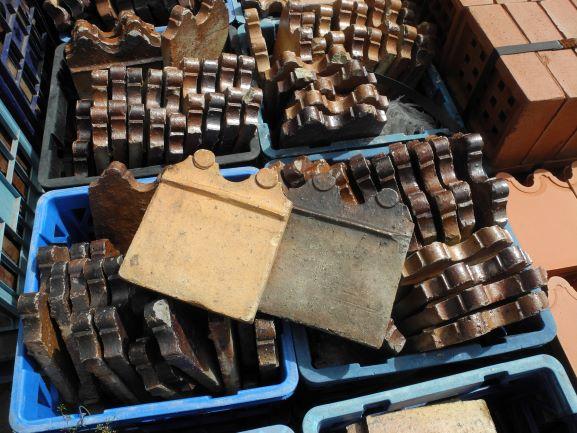 garden edging tiles terracotta salt glazed original new