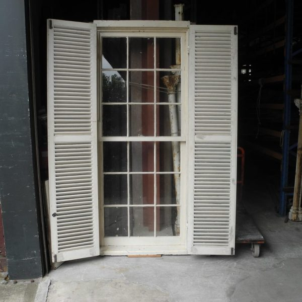 original second hand sydney doublehung hung window colonial style with shutters