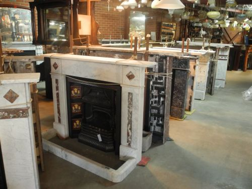 original antique second hand marble fire place surrounds mantles mantle belgian black rouge pink grey carrara victorian federation fully restored
