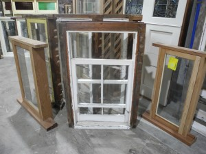 original second hand small double hung window