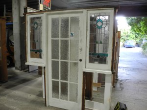 original second hand casment lead light windows with matching back door entrance way with matching windows