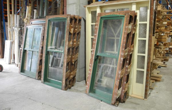 Set of 7 Victorian Double Hung Windows  039