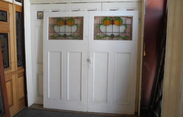 Pair Internal Lead light French Doors  036