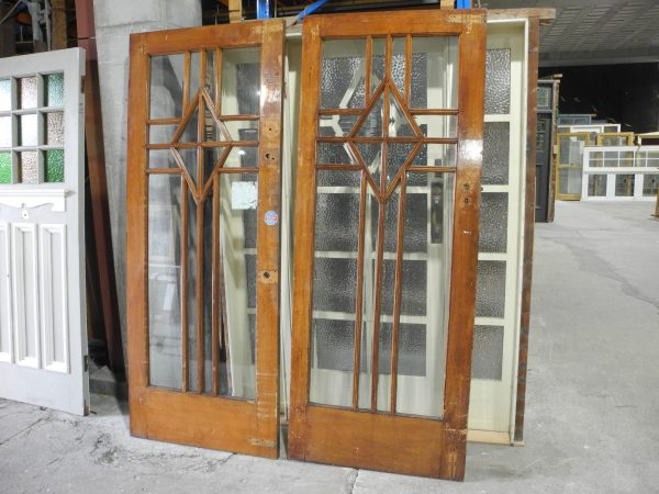 pair original deco doors with bevel glass