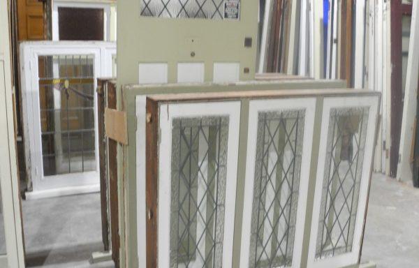 Set of 4 Casement Windows with a Door  041