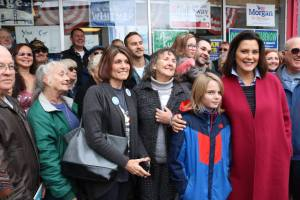 Gov Whitmer with Chippewa County Democratic Party members