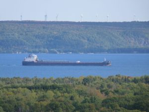 Photo of a freighter on the upper St. Marys River