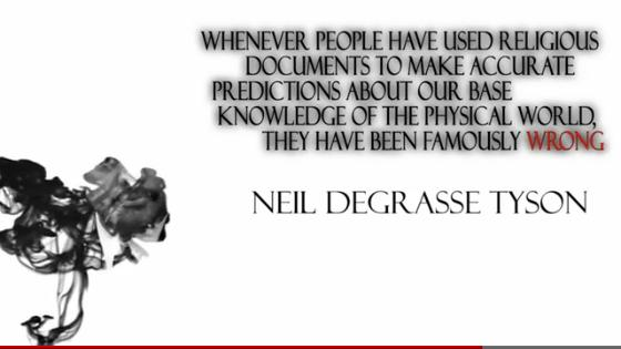 NdT quote religion wrong