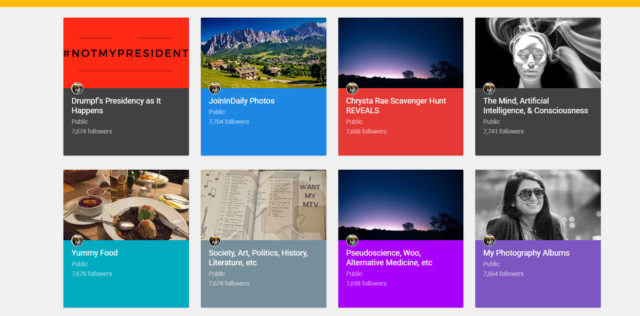My old Google+ Collections