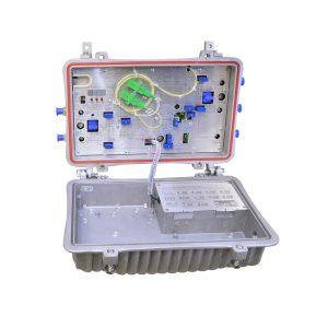 Optico Nodo 4 Puertos C/ Retorno 60V. Eco TECH