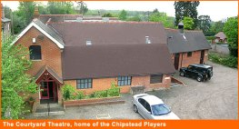 Aerial view of Courtyard Theatre, Chipstead