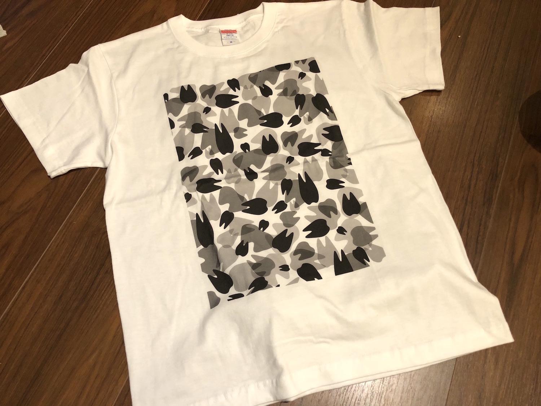 SUZURIのTシャツ品質評価・Teeth迷彩柄Tシャツで印刷のクオリティとサイズ感をチェック
