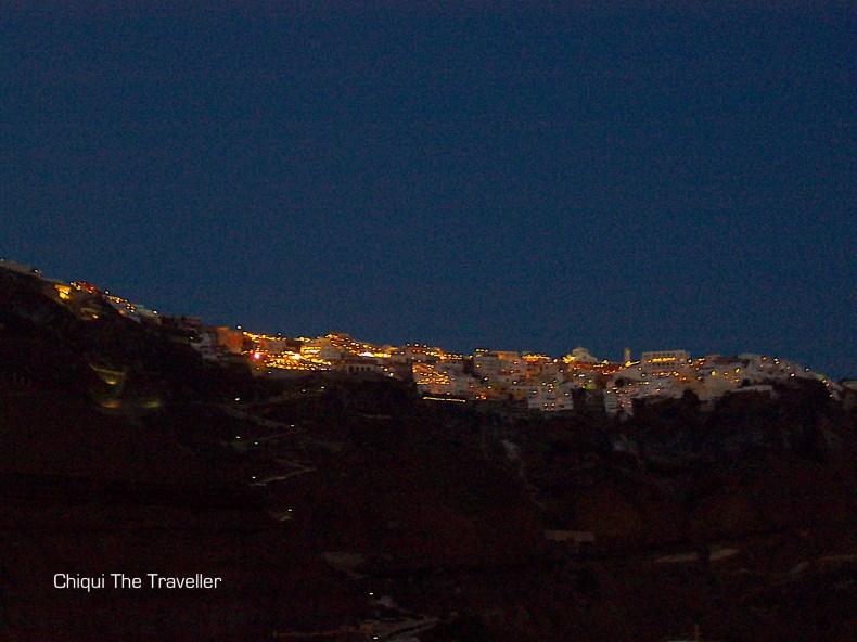 Anochecer Santorini