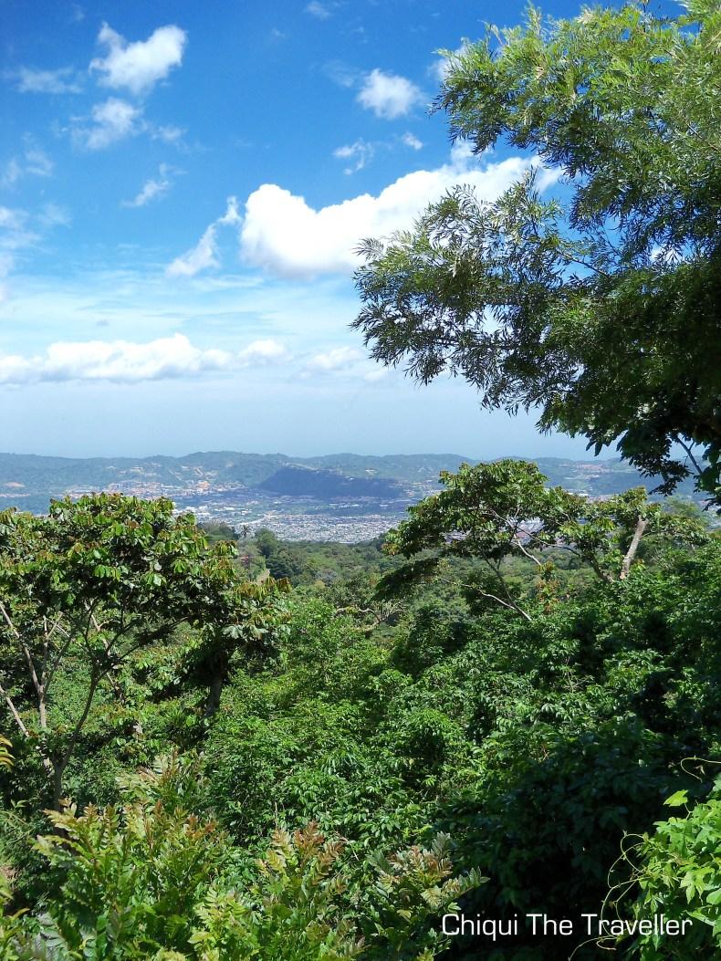 Vista desde volcán de San Salvador