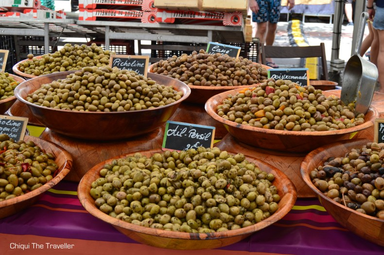 Mercado Ajaccio aceitunas